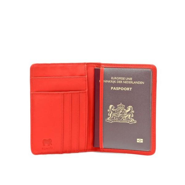 Mywalit Porte-passeport en cuir USA Rouge otEDoKO3